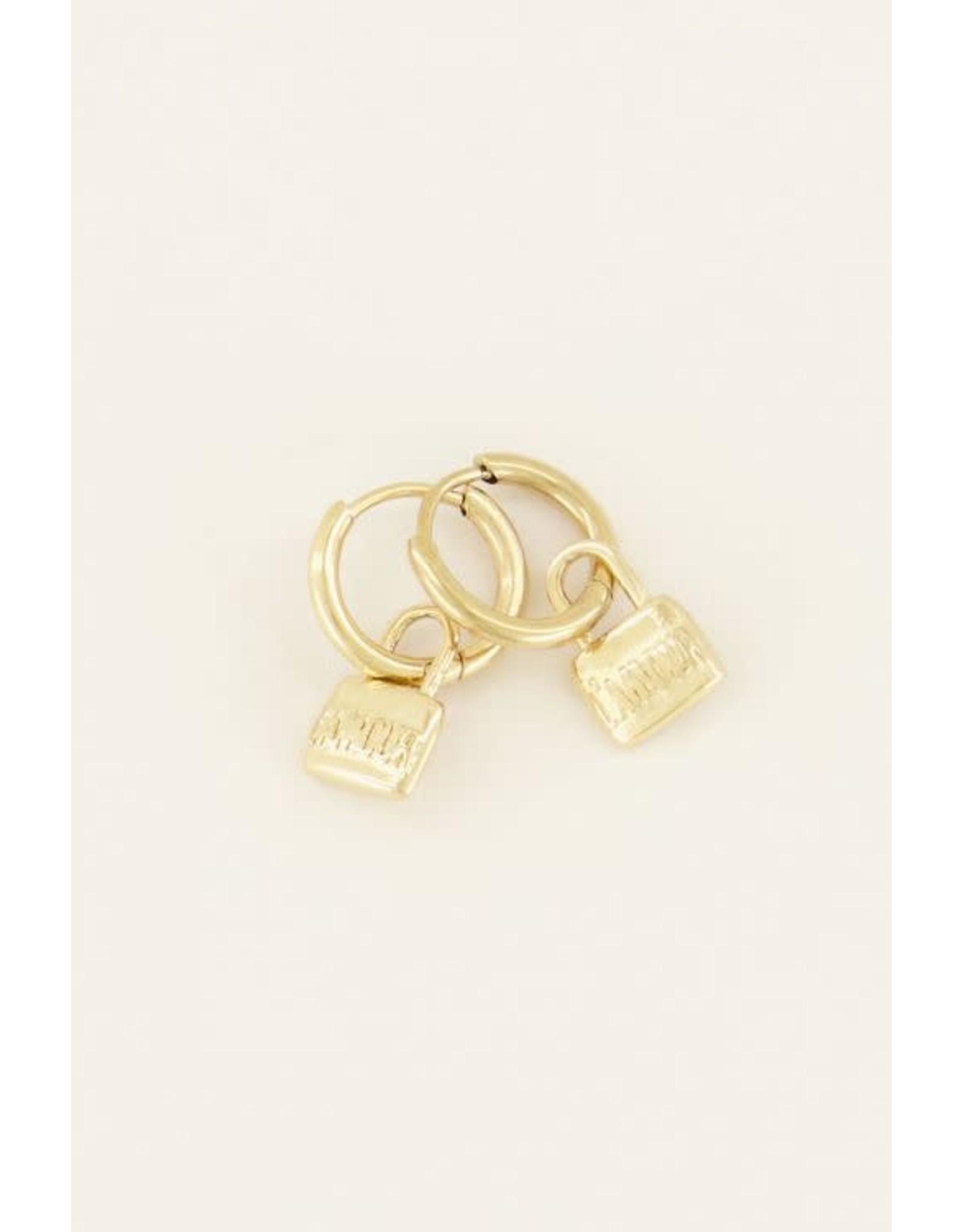 My Jewellery My Jewellery love lock oorringen