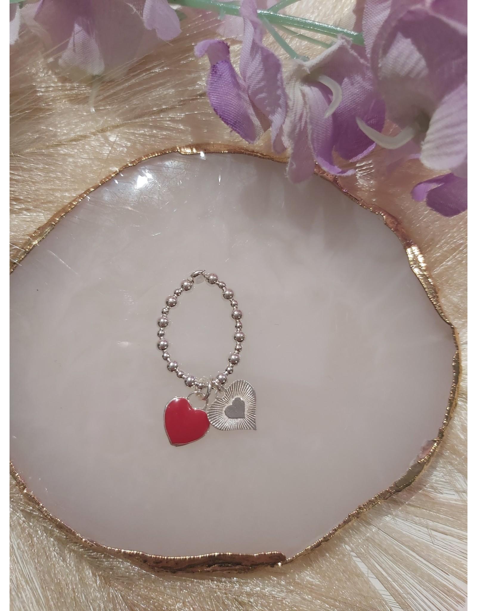 Joy Bali JOY Bali Sandy Bay ring - Rood Galaxy heart