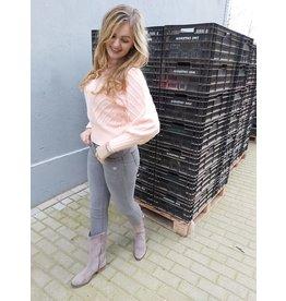L'Avenue Jeans grijs mid waist