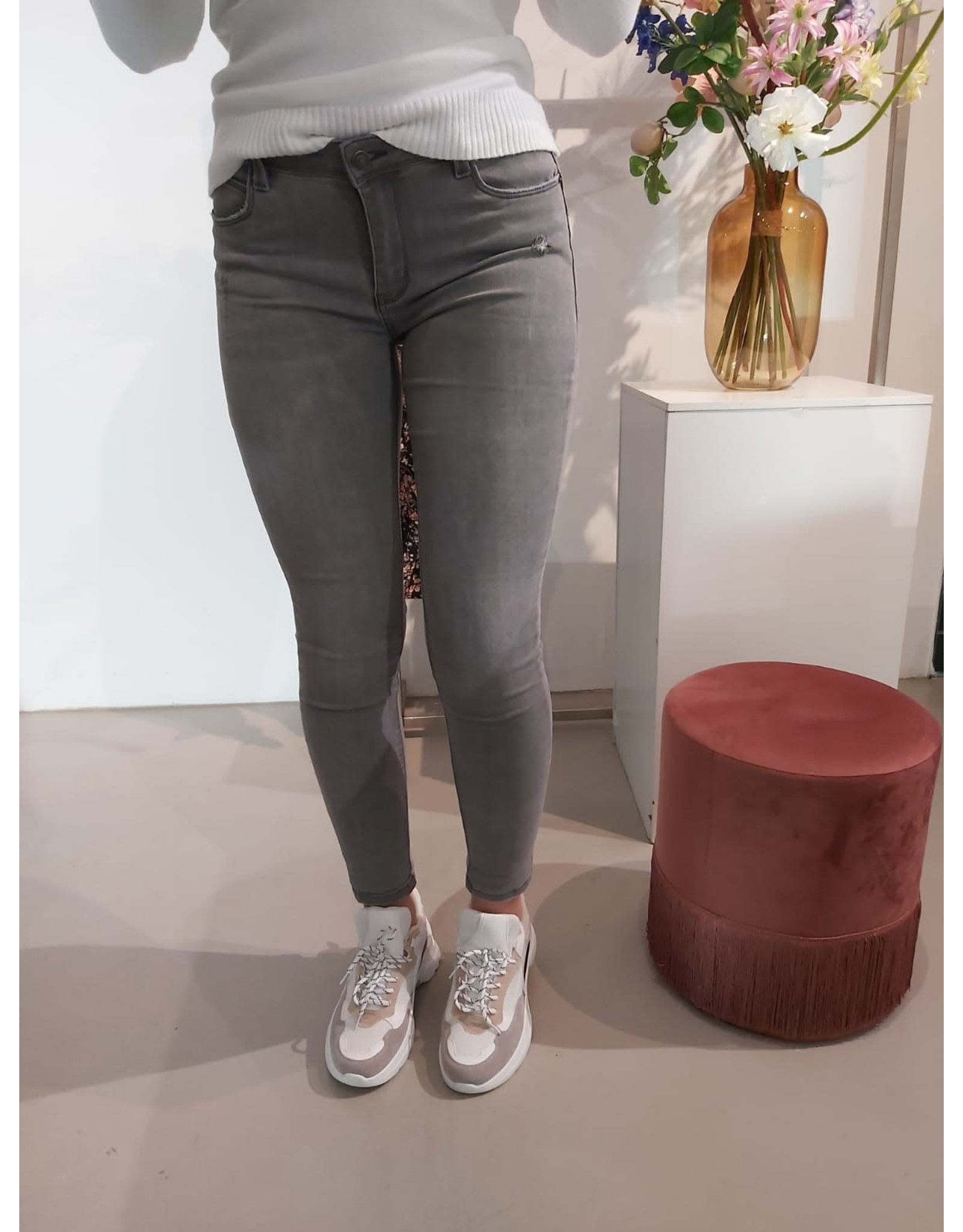L'Avenue Super high waist jeans grijs