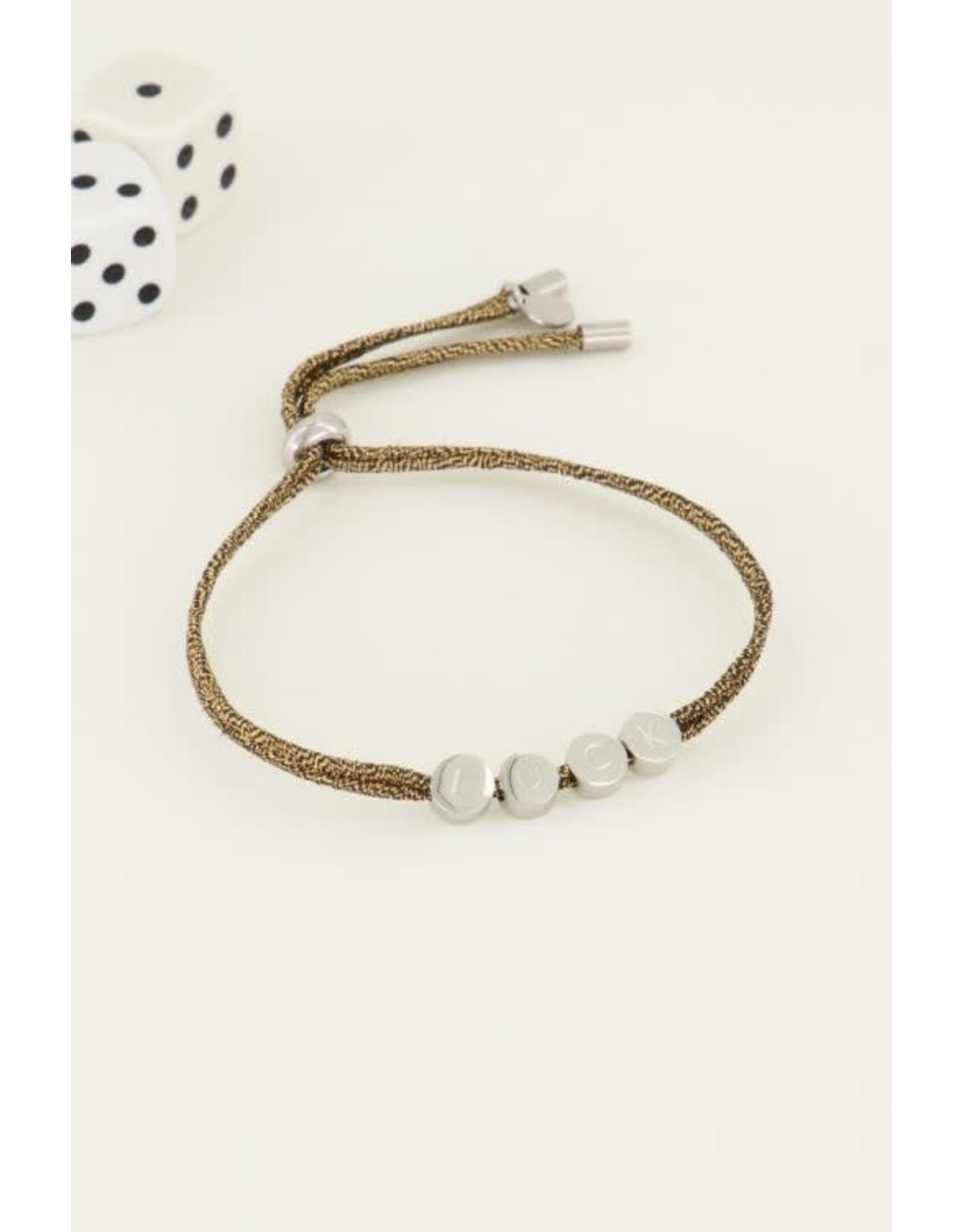 My Jewellery My Jewellery touw armband luck