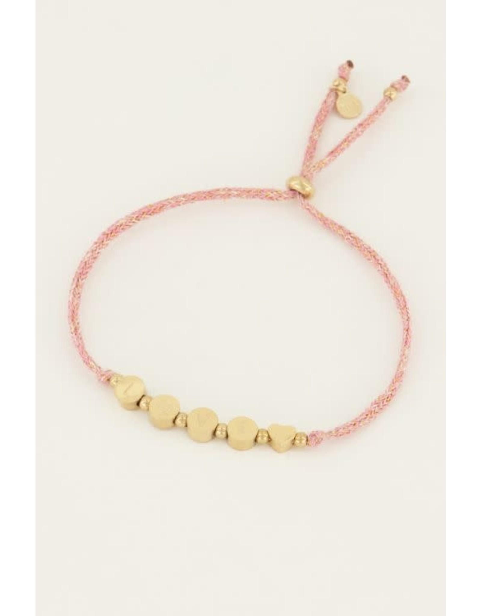 My Jewellery My Jewellery touw armband love