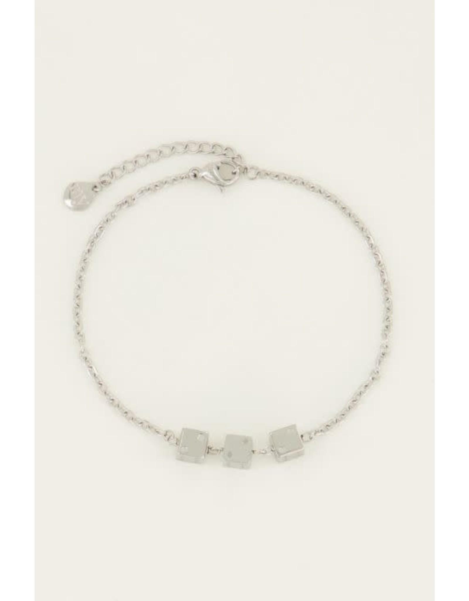 My Jewellery My Jewelllery armband drie dobbelsteentjes