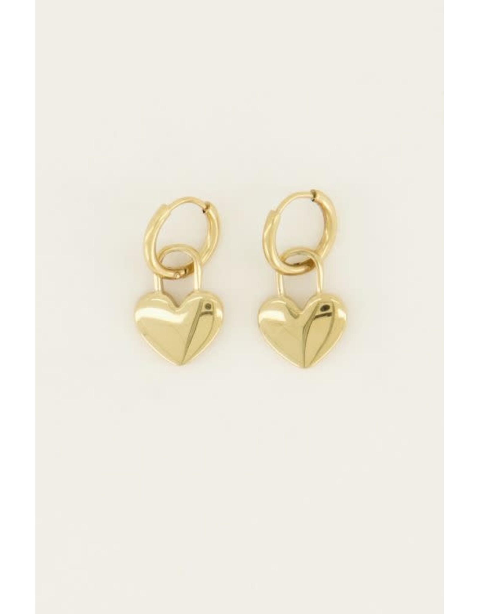 My Jewellery My Jewellery oorringen hartjes slot