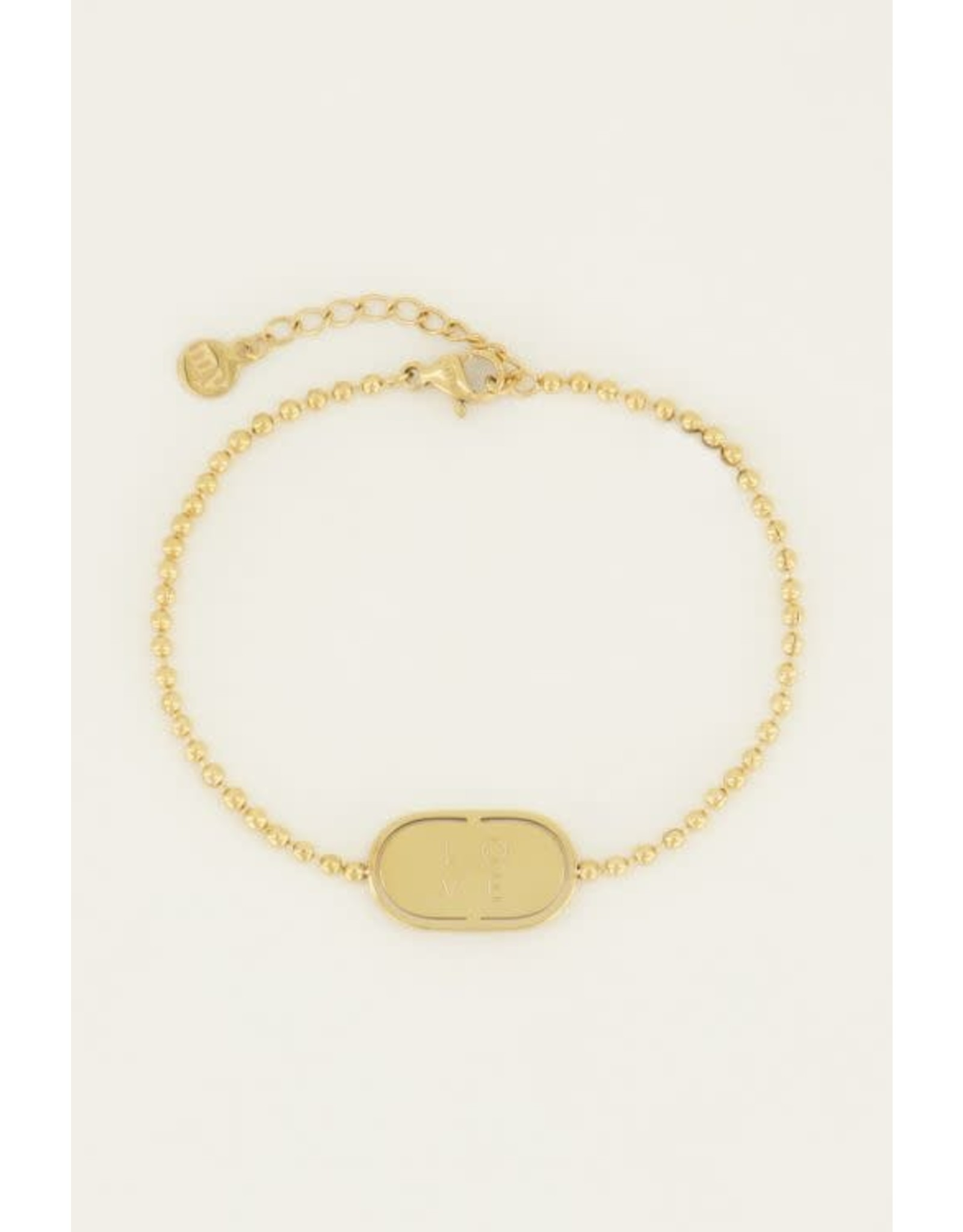 My Jewellery My Jewellery armband love plaatje
