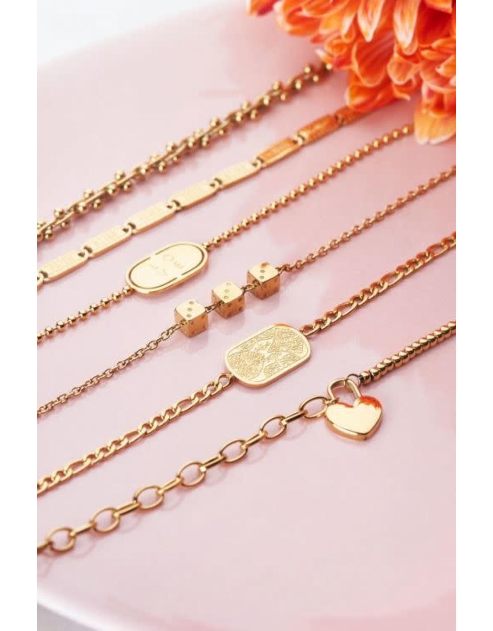 My Jewellery My Jewellery schakelarmband met plaatje