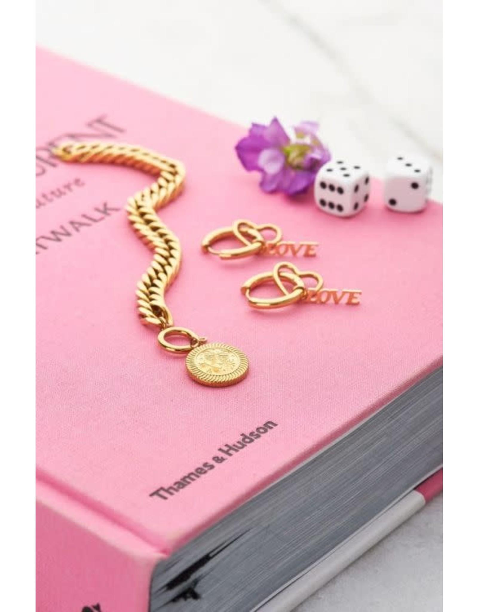 My Jewellery My Jewellery oorringen bedel hartje & love