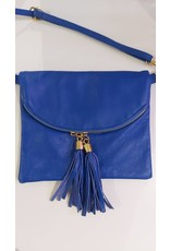 L'Avenue Kobalt blauw tasje