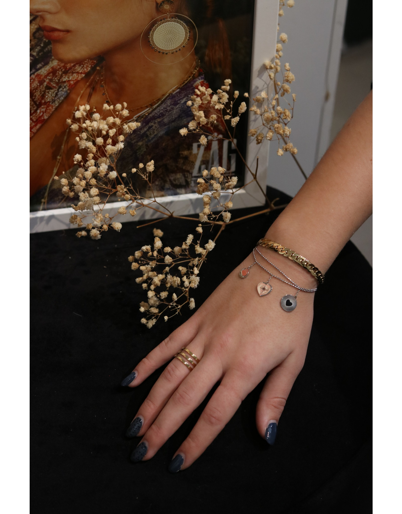 Zag Bijoux ZAG armband platte schakel