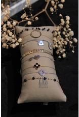 Zag Bijoux ZAG armband goud met zwarte klaver