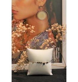 Zag Bijoux ZAG armband bruin en goud