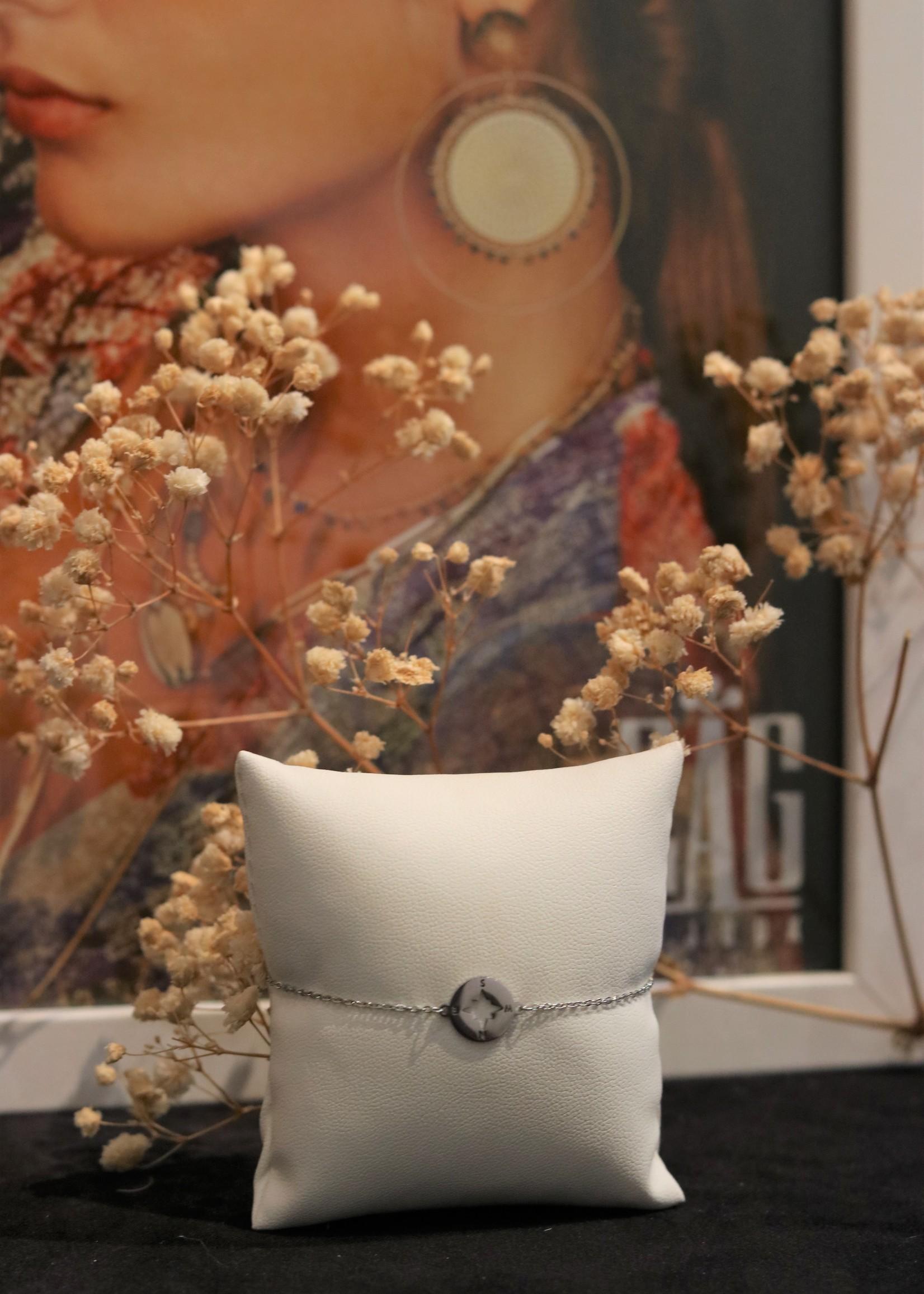 Zag Bijoux ZAG armband kompas zilver