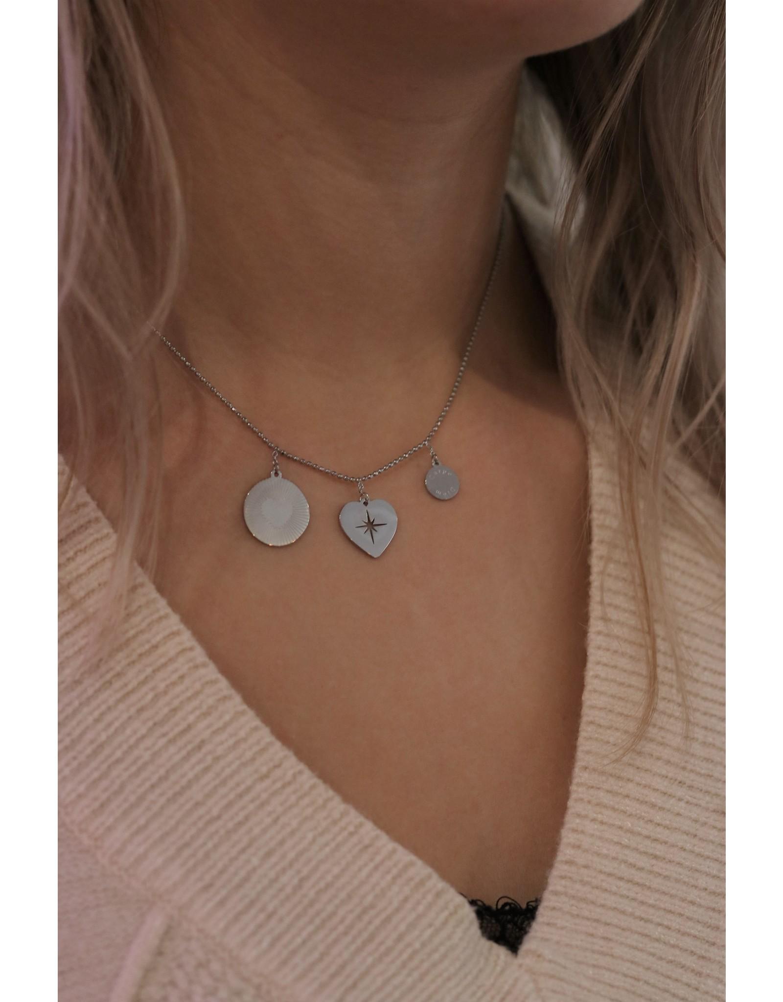 Zag Bijoux ZAG ketting zilveren bedels