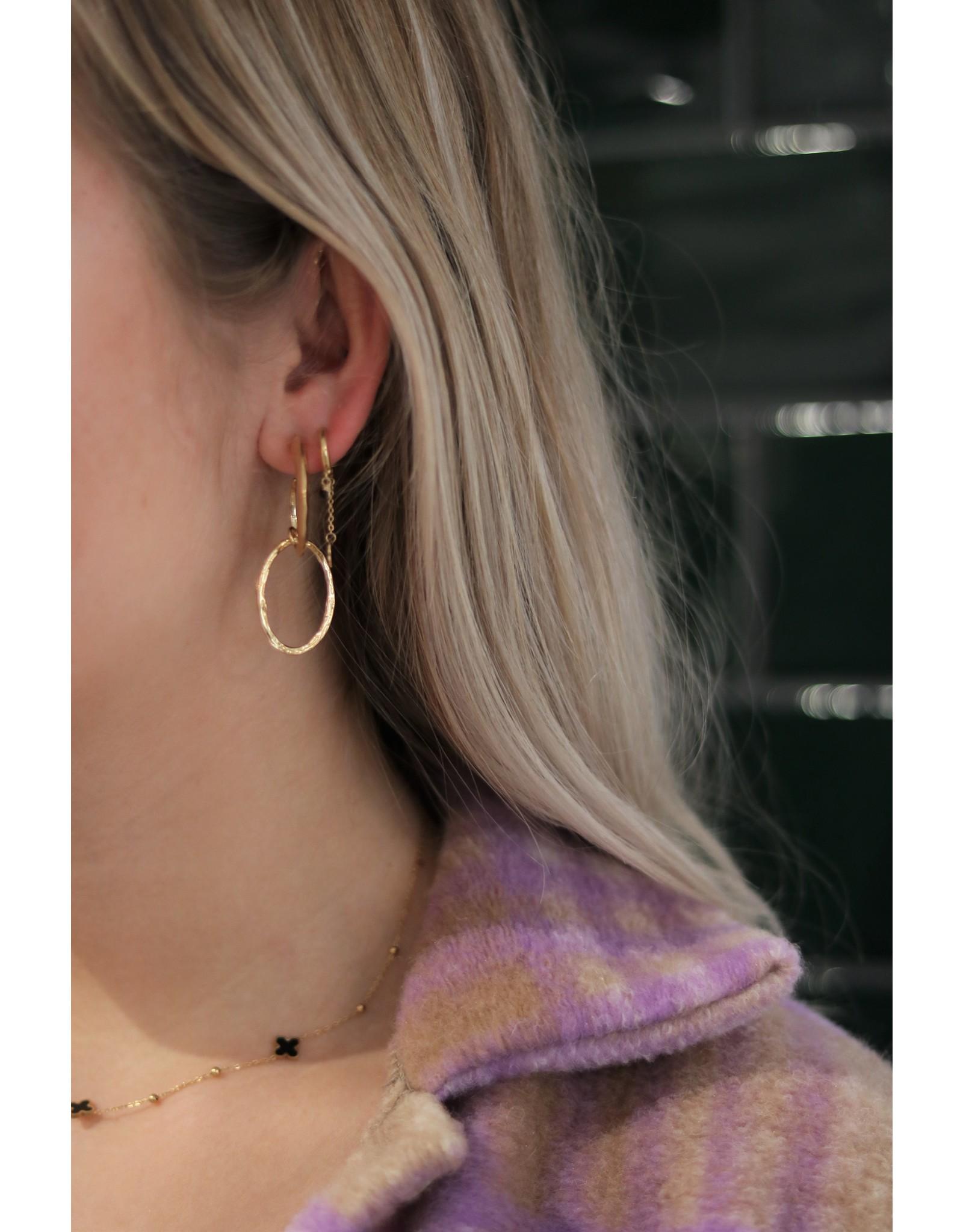 Zag Bijoux ZAG oorring goud dubbele ring