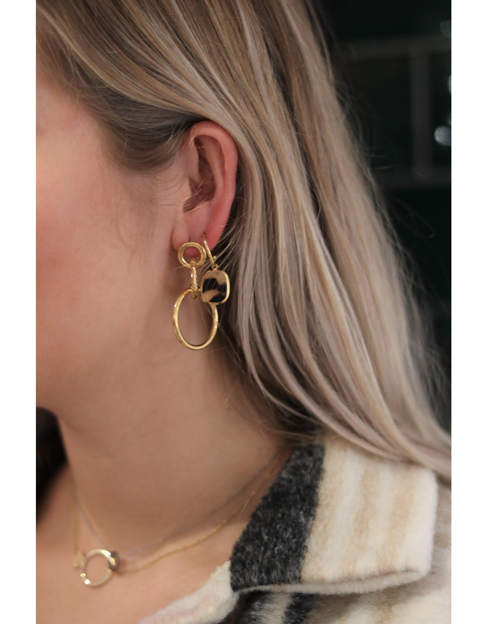 Zag Bijoux ZAG triple oorringen goud