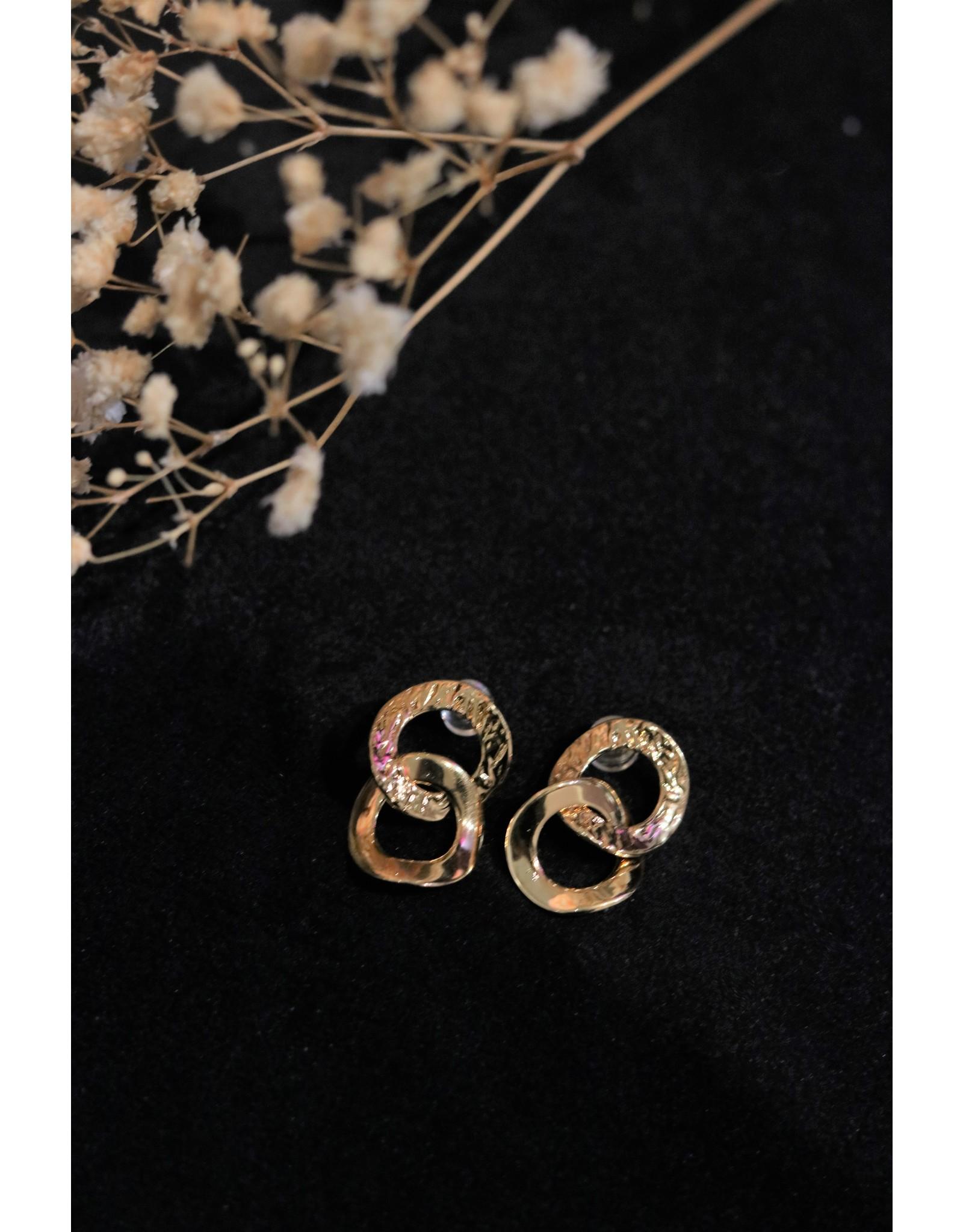 Zag Bijoux ZAG dubbele oorringen ovaal
