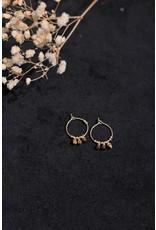Zag Bijoux ZAG oorringen bruine steentjes