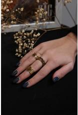 Zag Bijoux ZAG ring bruine steen