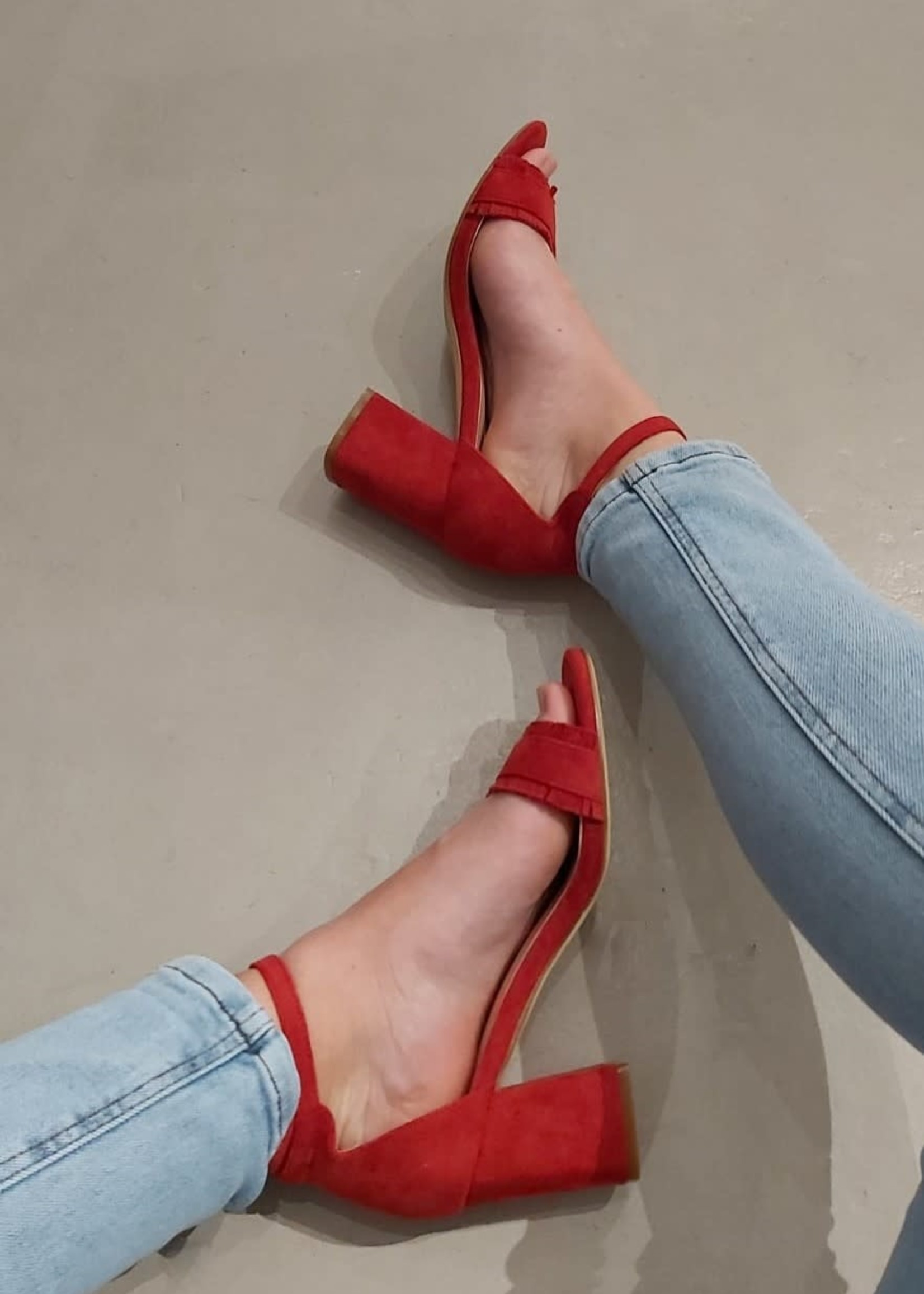 Fabs Shoes Fabs blokhakjes rood