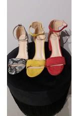Fabs Shoes Fabs blokhakjes okergeel