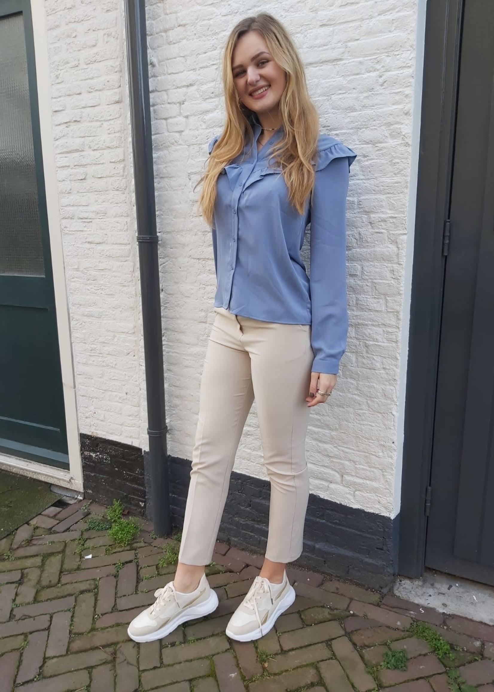 Turquoise Beige pantalon