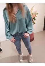 L'Avenue Blouse Rosa Turquoise
