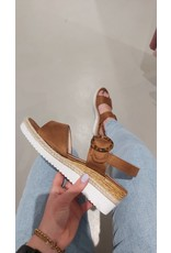 Fabs Shoes Fabs sleehak cognac