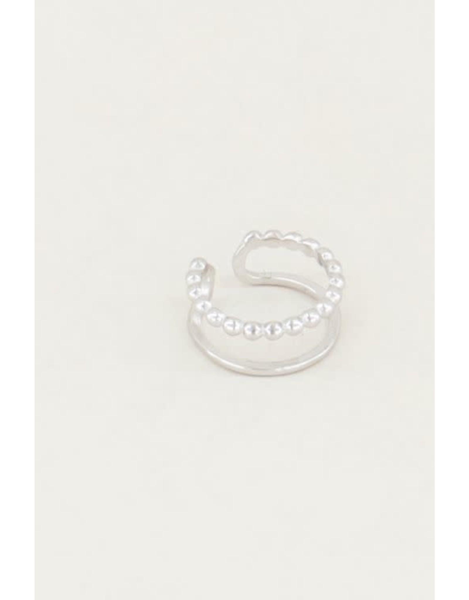 My Jewellery My Jewellery ear cuff dubbele ring