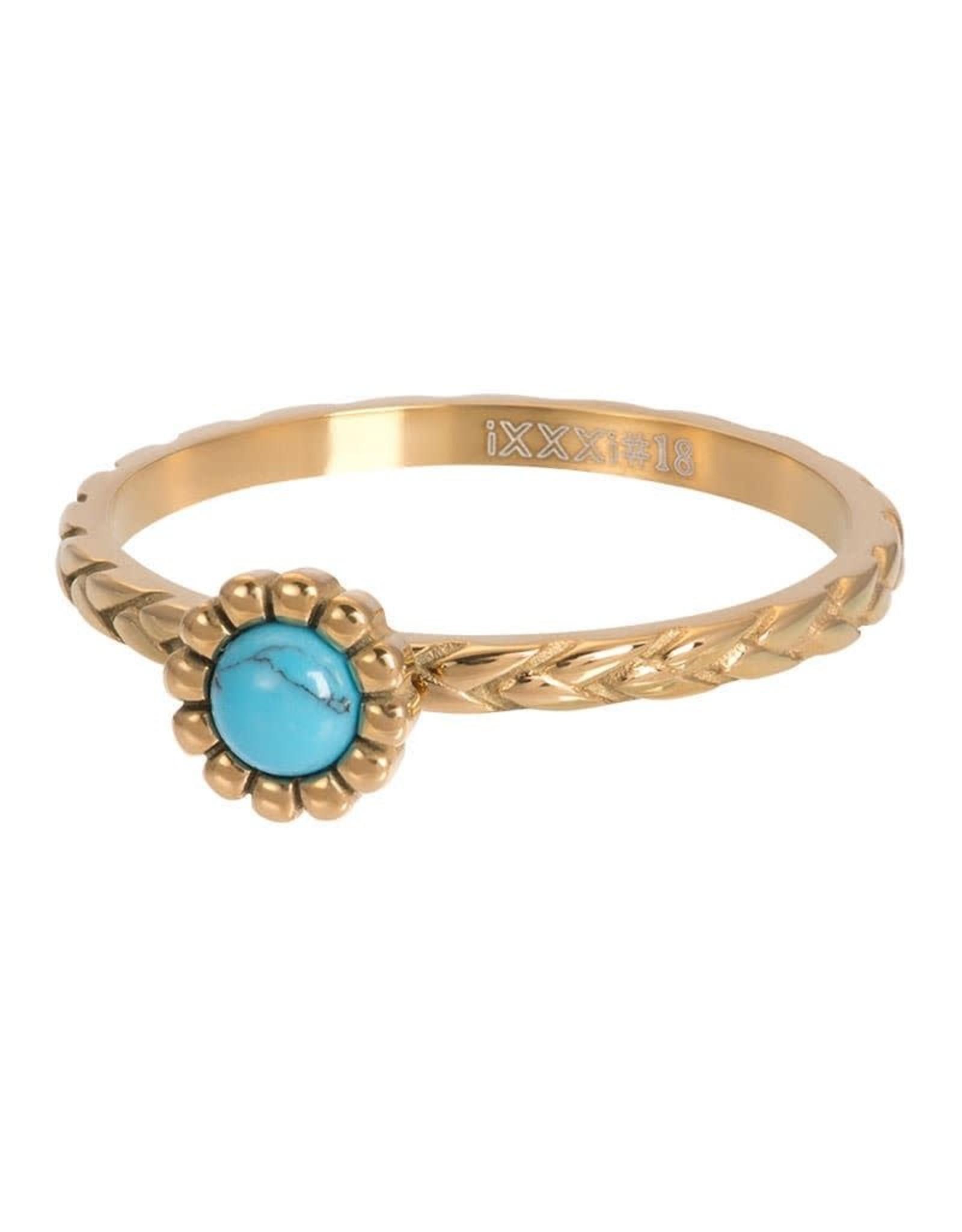 iXXXi Jewelry iXXXi vulring inspired turquoise - goud