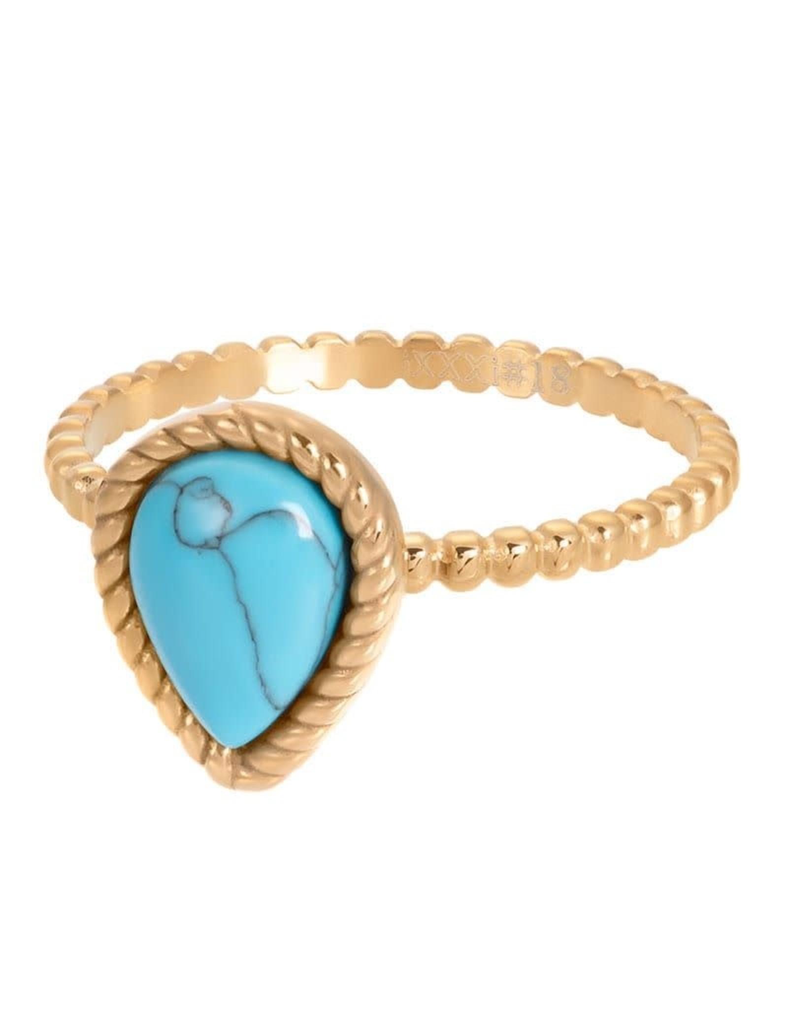 iXXXi Jewelry iXXXi vulring Magic turquoise - goud