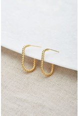 My Jewellery My Jewellery oorbellen ovaal gedraaid