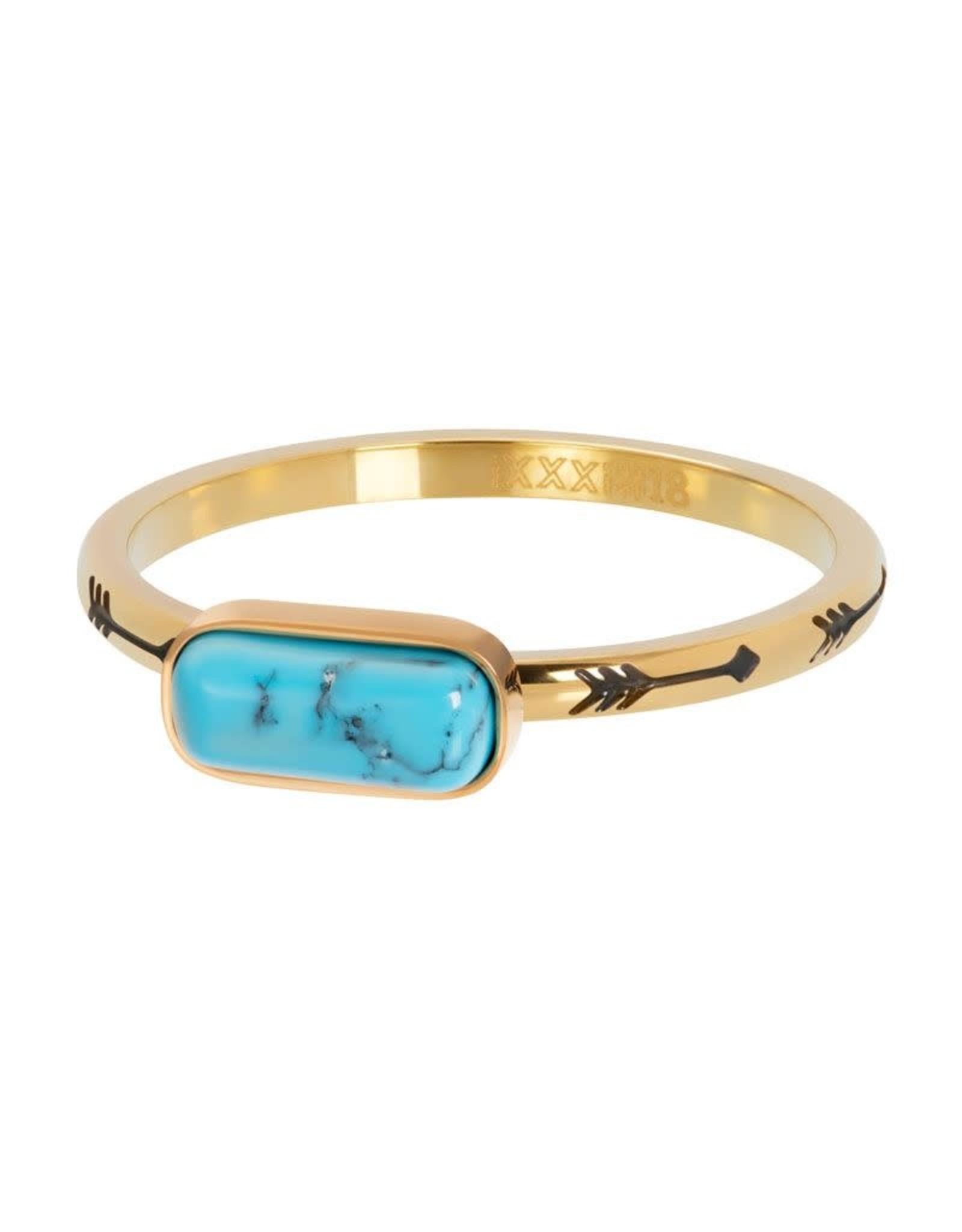 iXXXi Jewelry iXXXi vulring Festival blue - goud