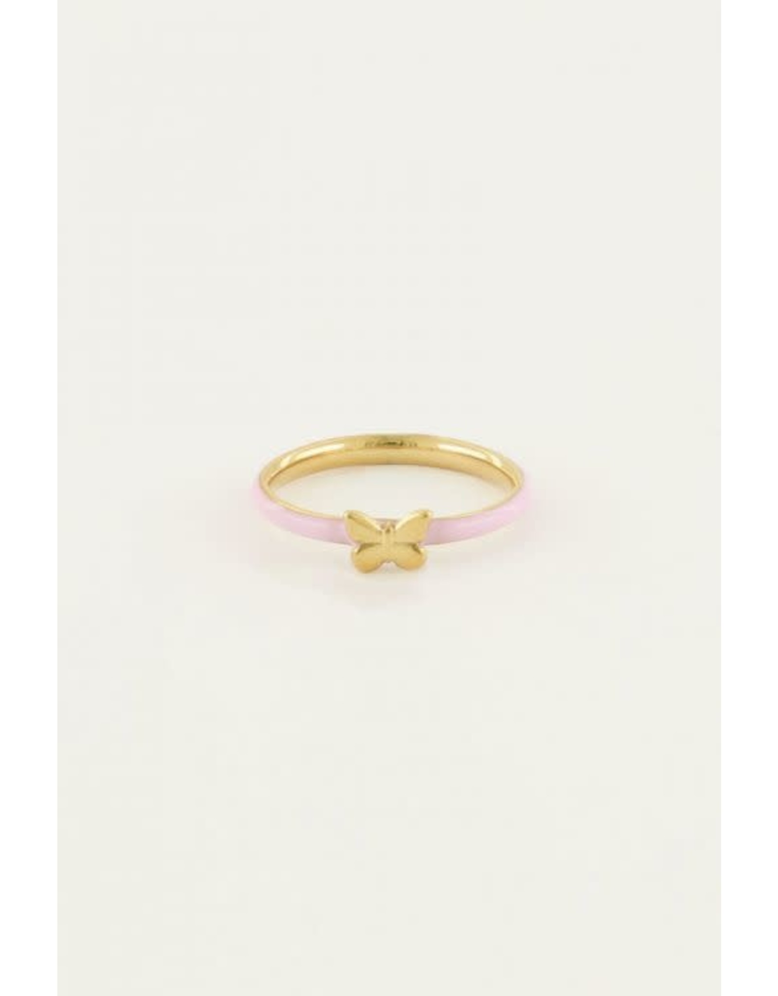 My Jewellery My Jewellery ring roze vlinder