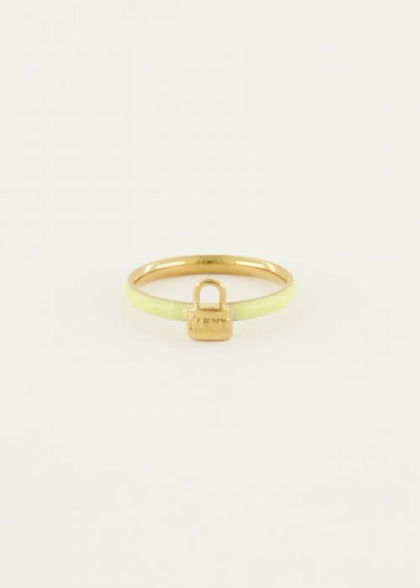 My Jewellery My Jewellery ring geel slotje