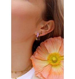 My Jewellery My Jewellery oorringen lila love