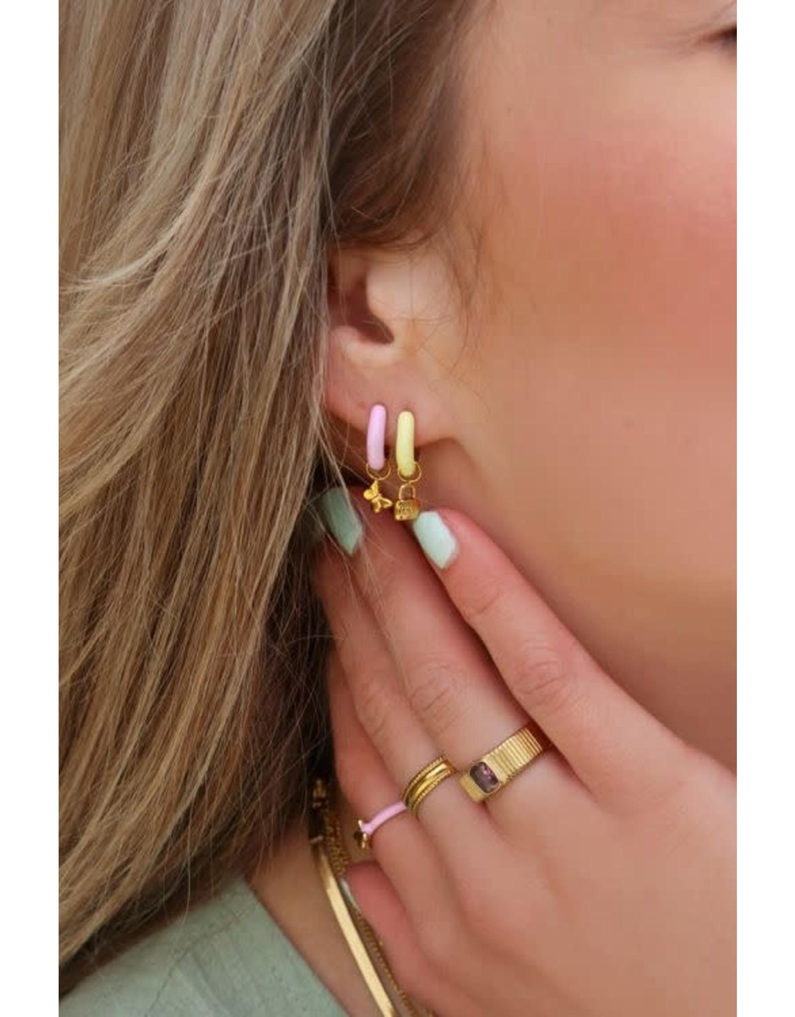 My Jewellery My Jewellery oorringen geel slot