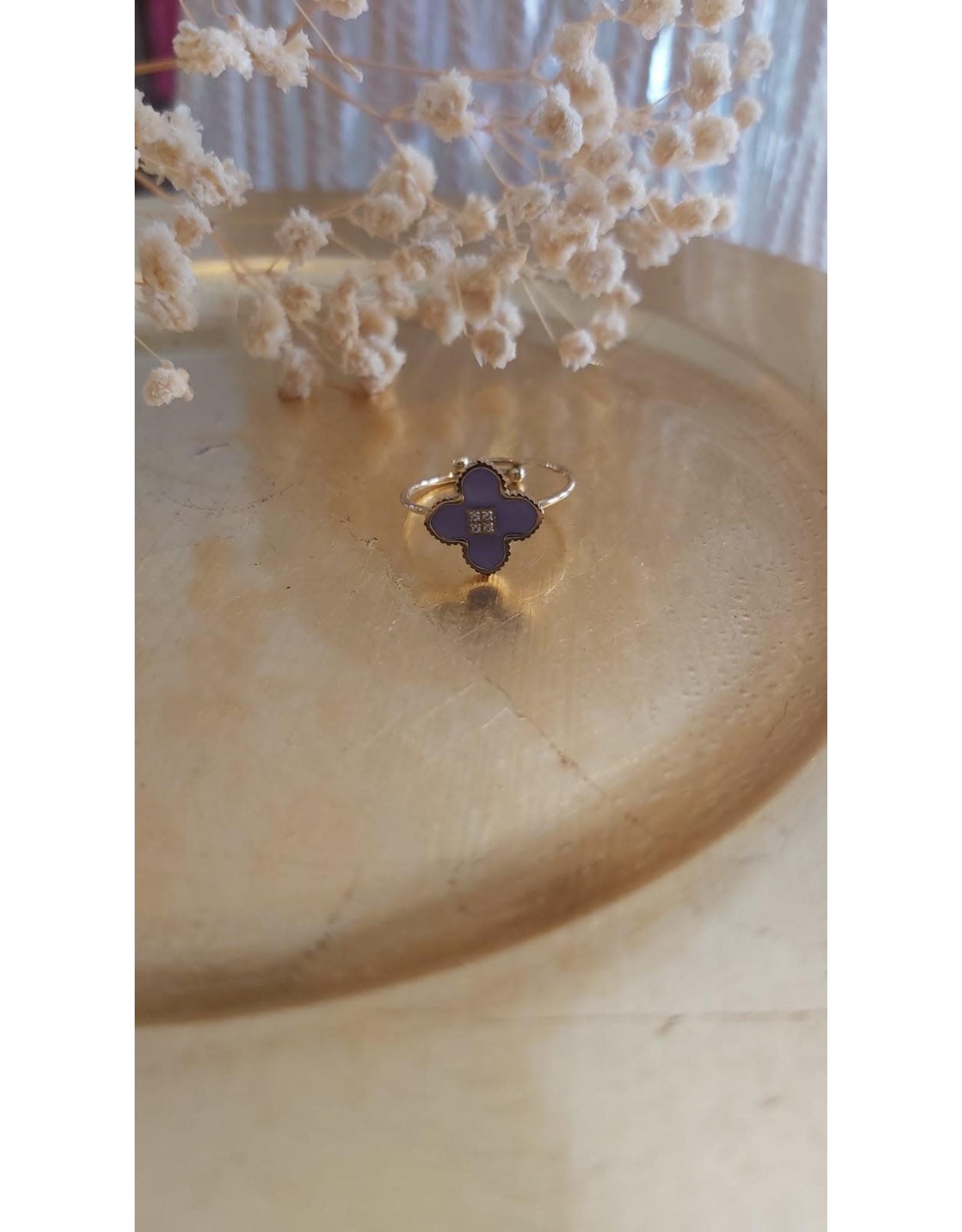 Zag Bijoux ZAG ring lila klaver