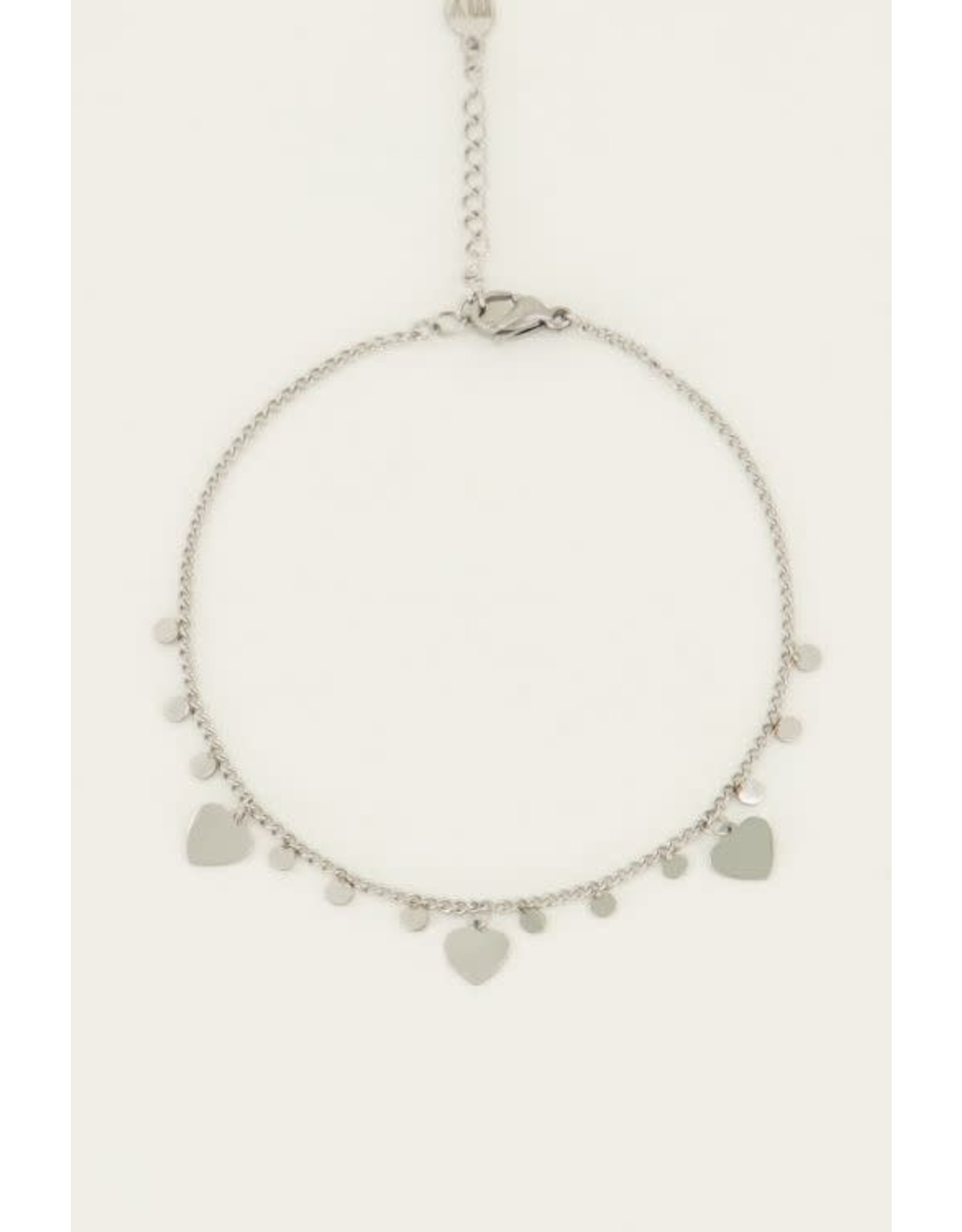 My Jewellery My Jewellery armband hartjes en bedel