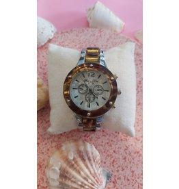 Schakel horloge panter met zilver