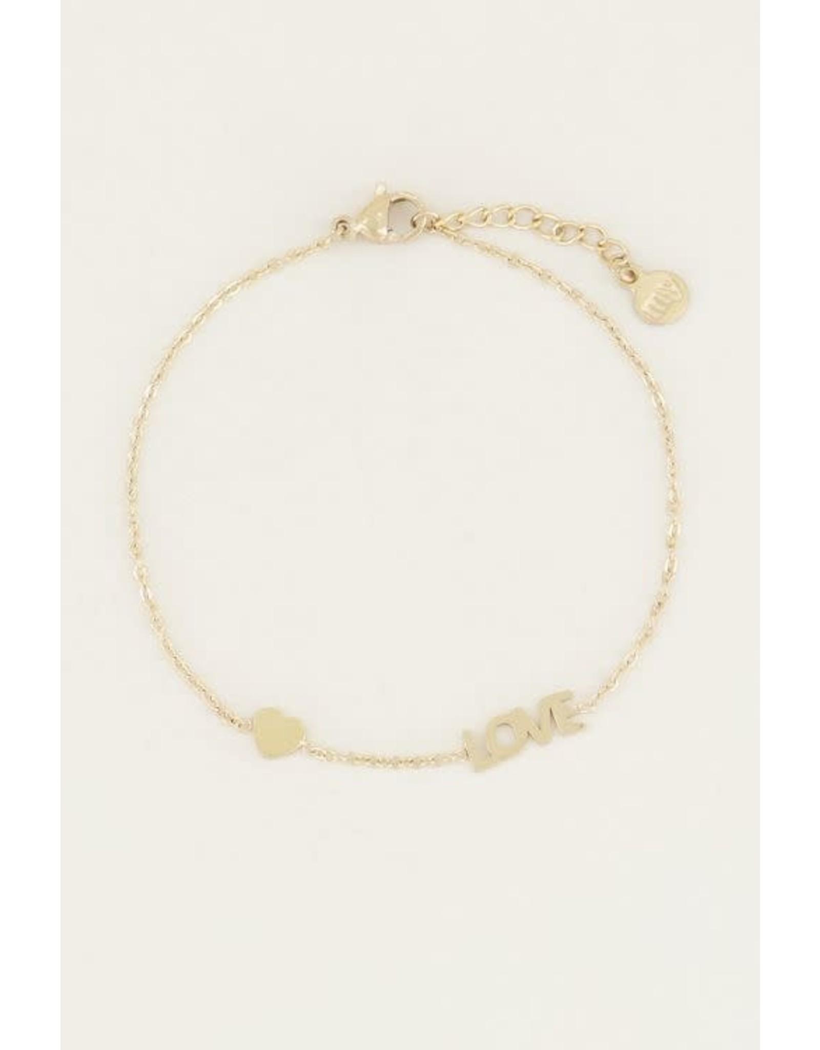 My Jewellery My Jewellery armband love en hart