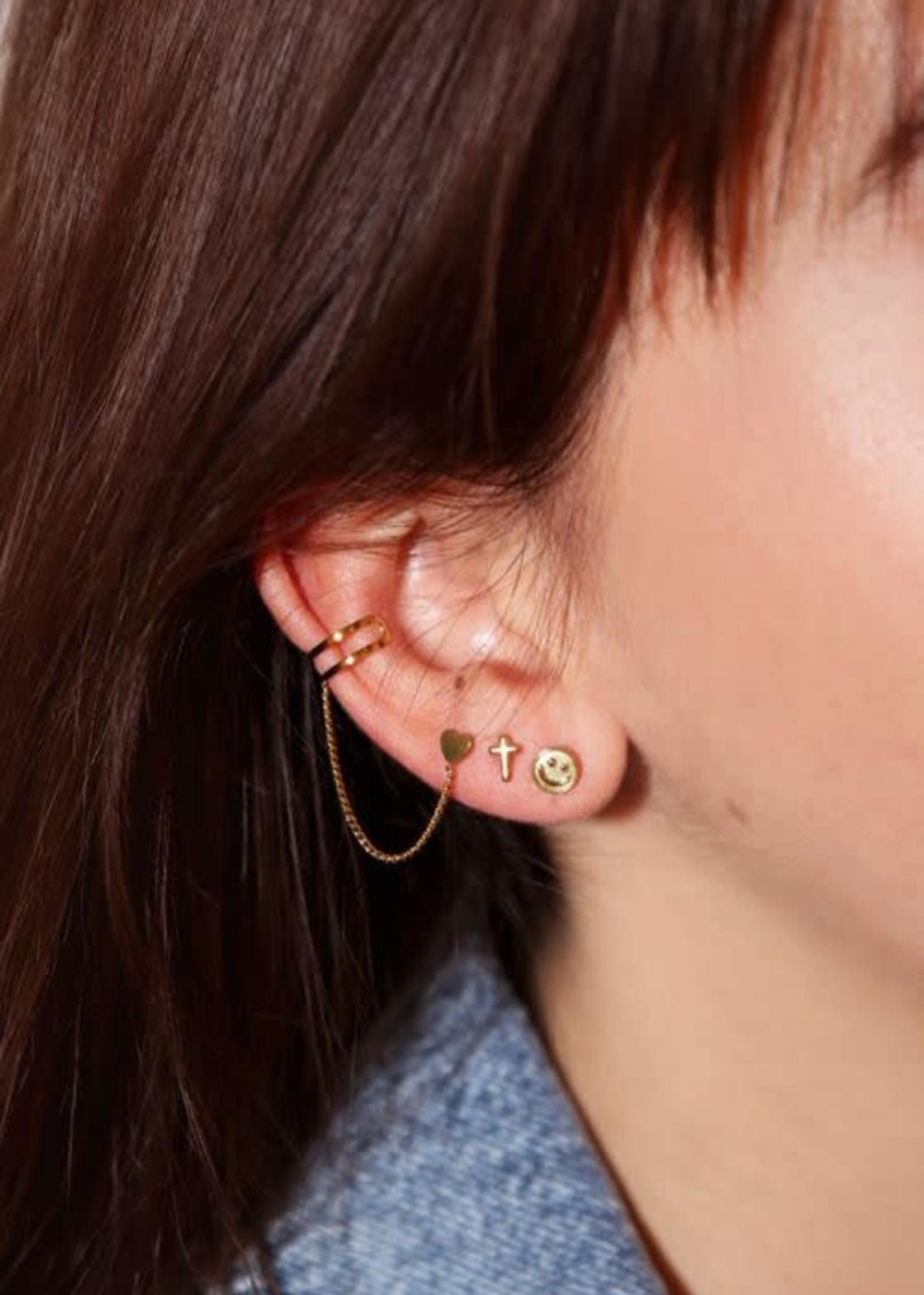 My Jewellery My Jewellery earstuds - smiley