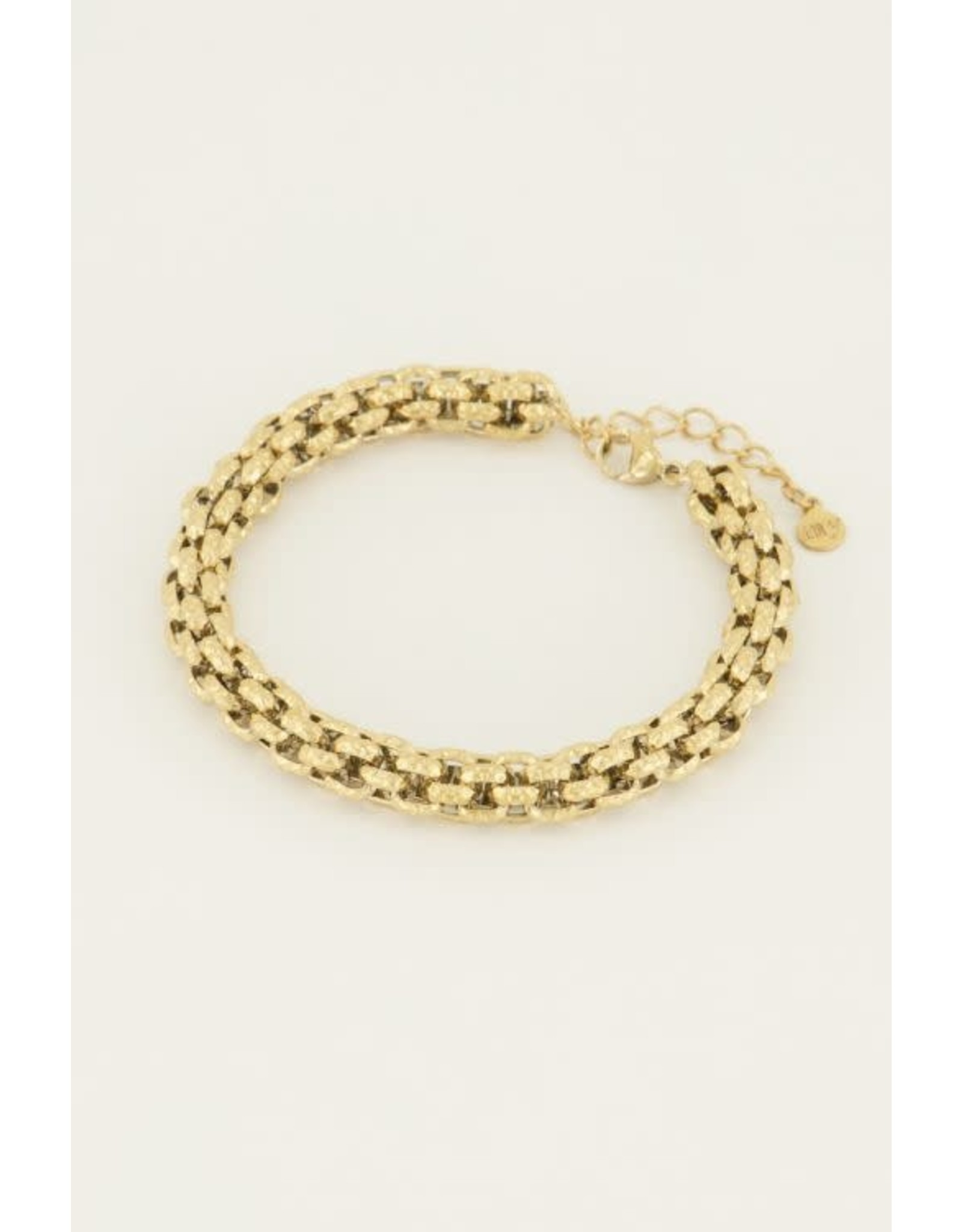 My Jewellery My Jewellery chunky armband schakels motief
