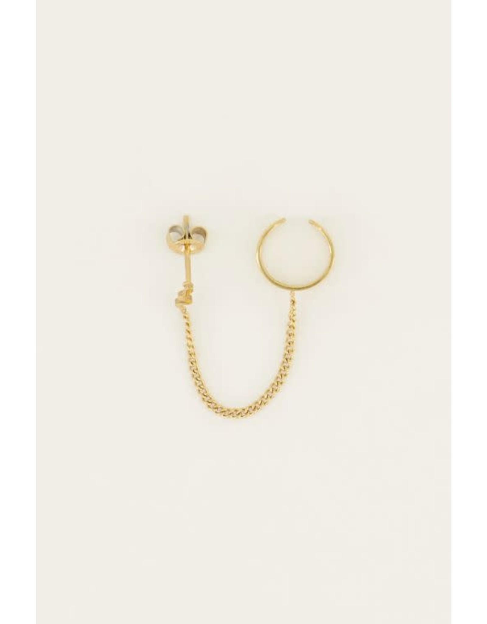 My Jewellery My Jewellery ear cuff slang stud