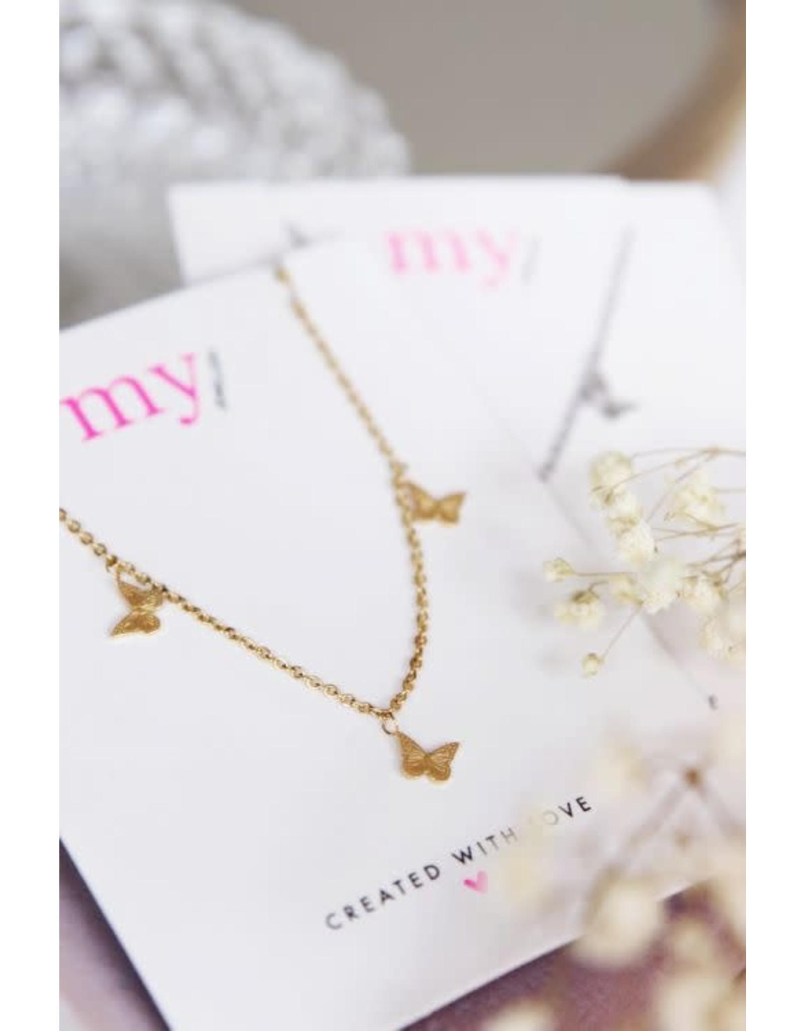 My Jewellery My Jewellery ketting vlindertjes