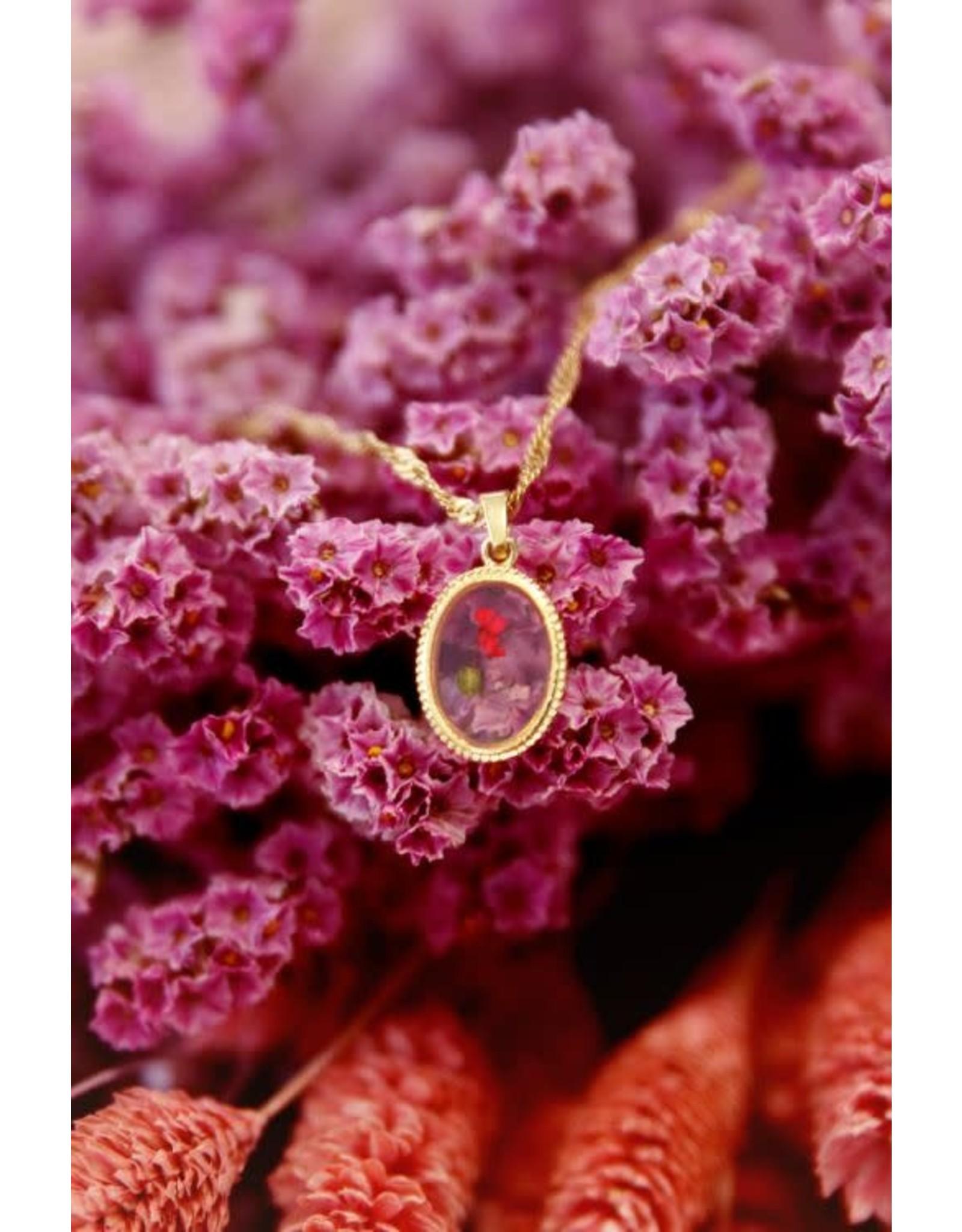 My Jewellery My Jewellery ketting wildflower ovaal