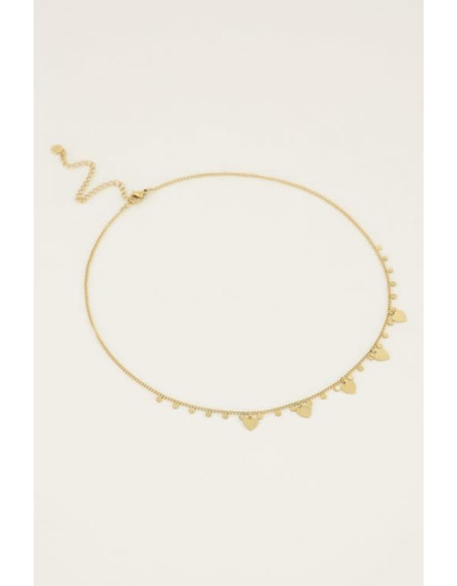 My Jewellery My Jewellery ketting hartjes en bedels