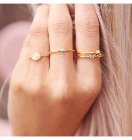 My Jewellery My Jewellery ring met blauw steentje