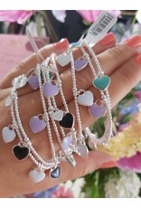 Joy Bali JOY armband No 5 Resin hearts - lila
