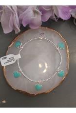 Joy Bali JOY armband No 5 Resin hearts - turquoise