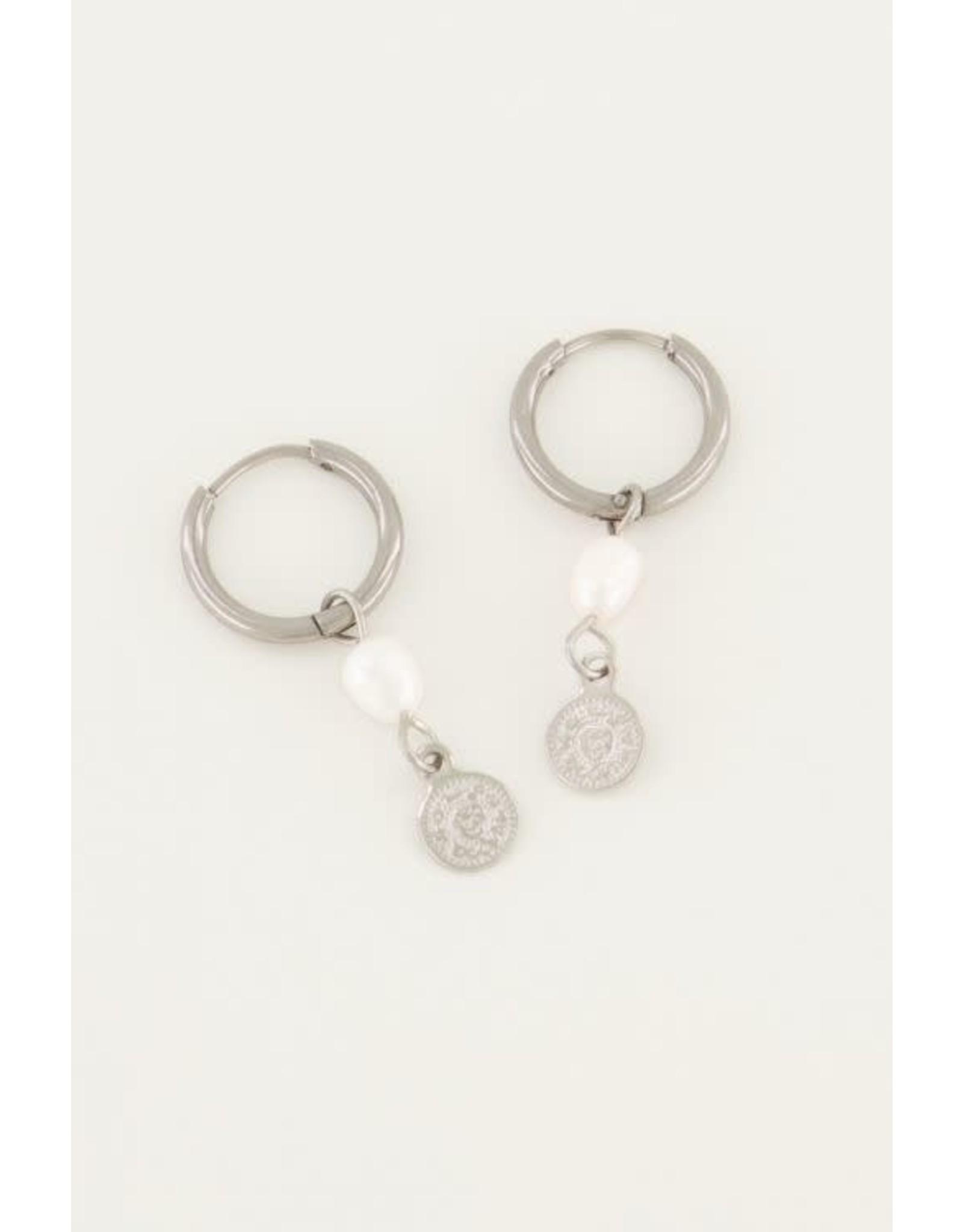 My Jewellery My Jewellery oorringen parel en munt